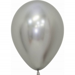 50 GLOBOS PLATA REFLEX 30 CM