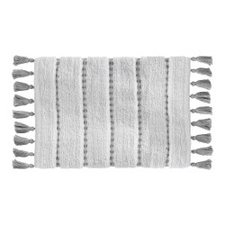 ALFOMBRA 50X75CM GRIS POMPOM