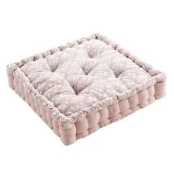 cojin de suelo rosa