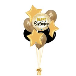 RAMO BIRTHDAY DORADO +3 ESTRELLAS +5 LATEX