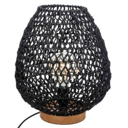 LAMPARA 35.5CM NEGRO FIBRA