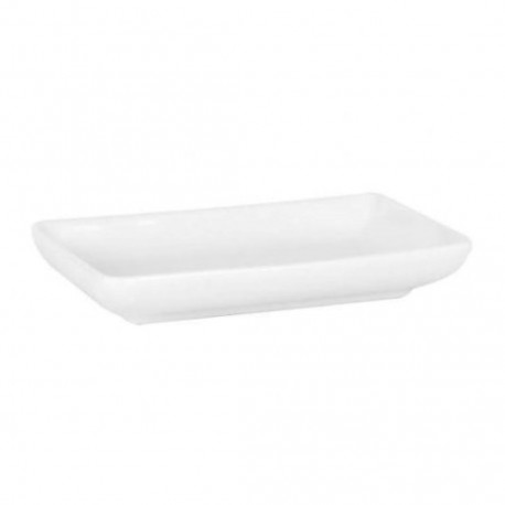 PLATO RECTANGULAR 10X5,5CM BLANCO
