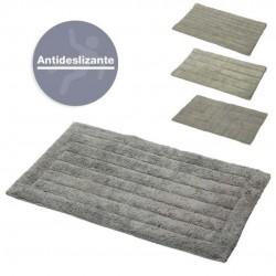 alfombra de baño gris