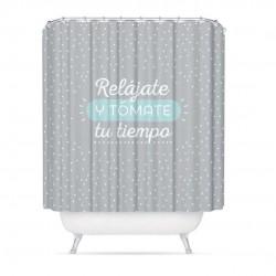 cortina de baño frase