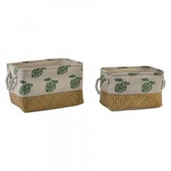 cestas decoracion tropical