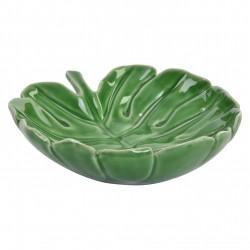 centro de mesa hoja ceramica