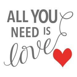 vinilo todo lo que necesitas es amor